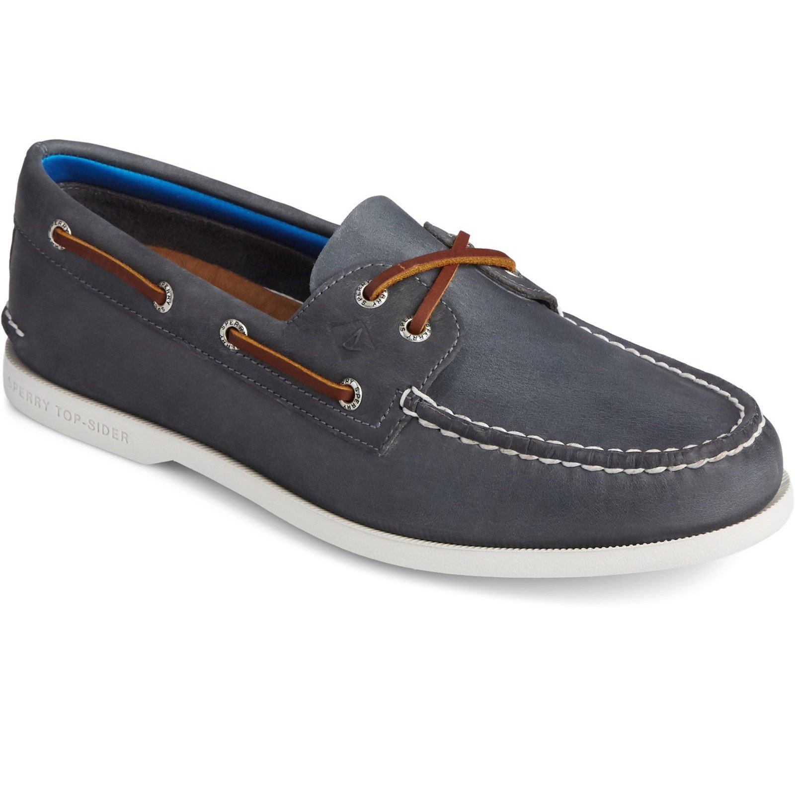 Sperry Men's Authentic Original PLUSHWAVE Boat Shoe Various Colours 31525 - Navy 8