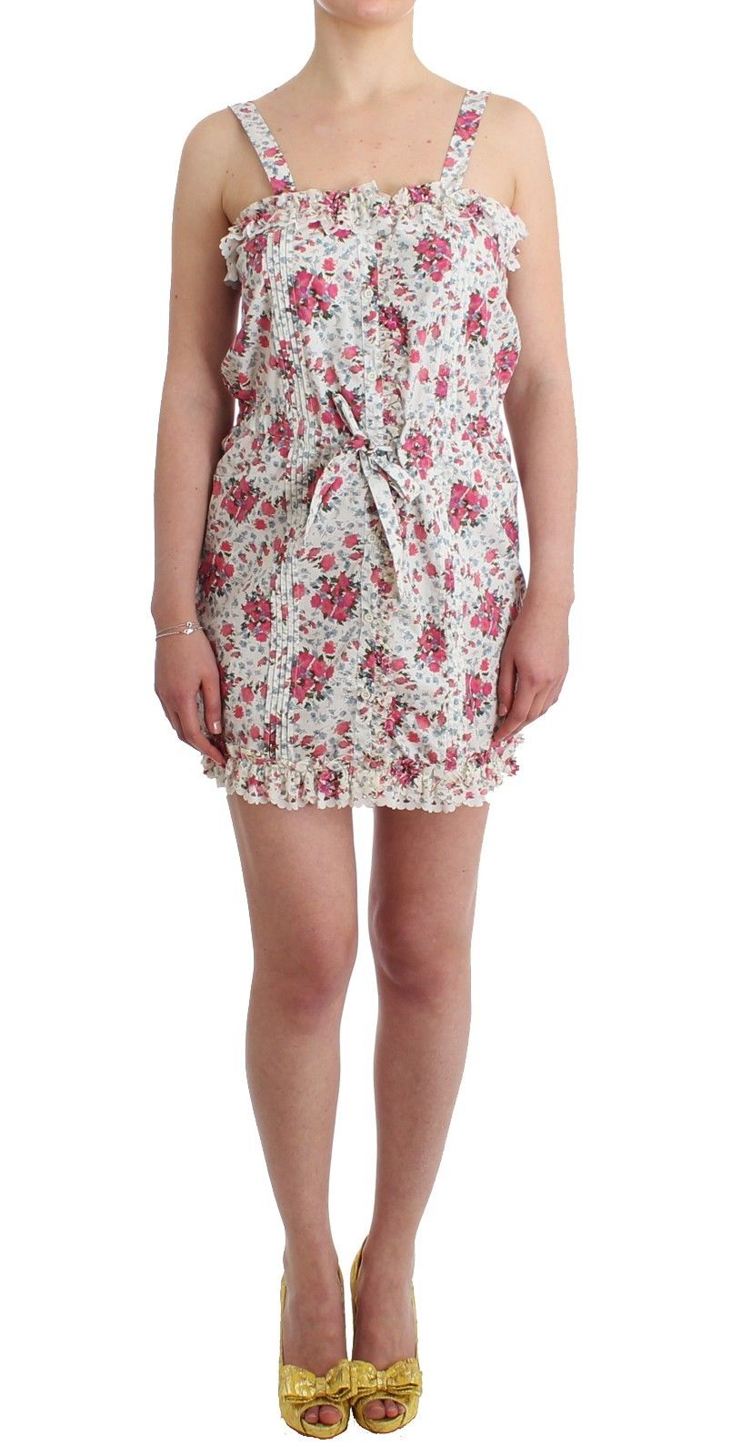Ermanno Scervino Women's Mini Dress Pink Floral SIG11510 - IT48