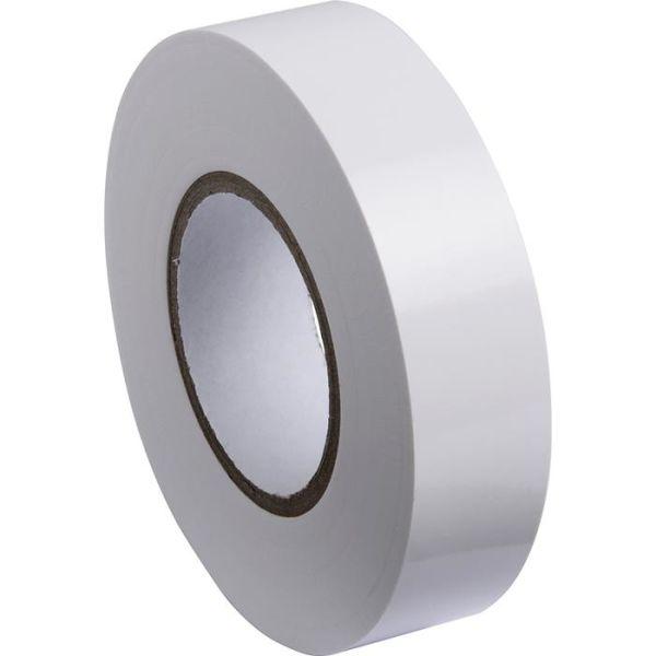 Gelia 050000510 Sähköteippi 20 m x 19 mm, valkoinen