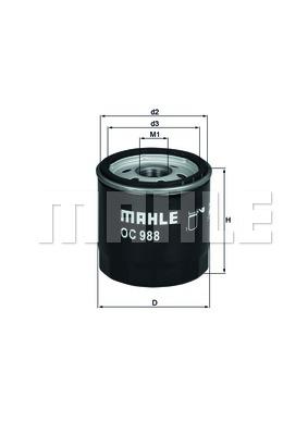 Öljynsuodatin MAHLE ORIGINAL OC 988