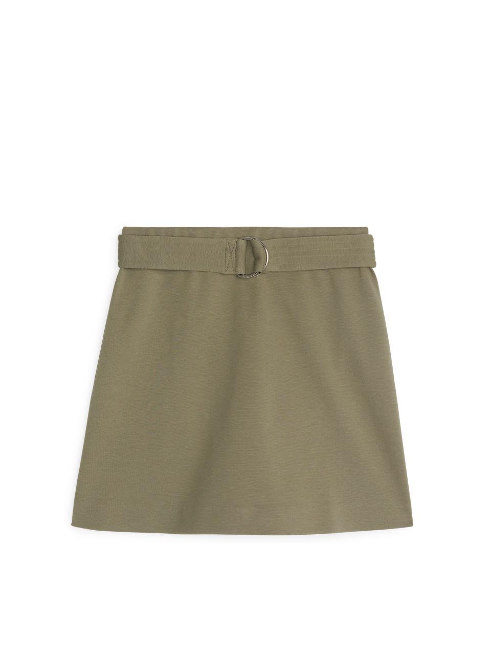 Interlock Jersey Mini Skirt - Green