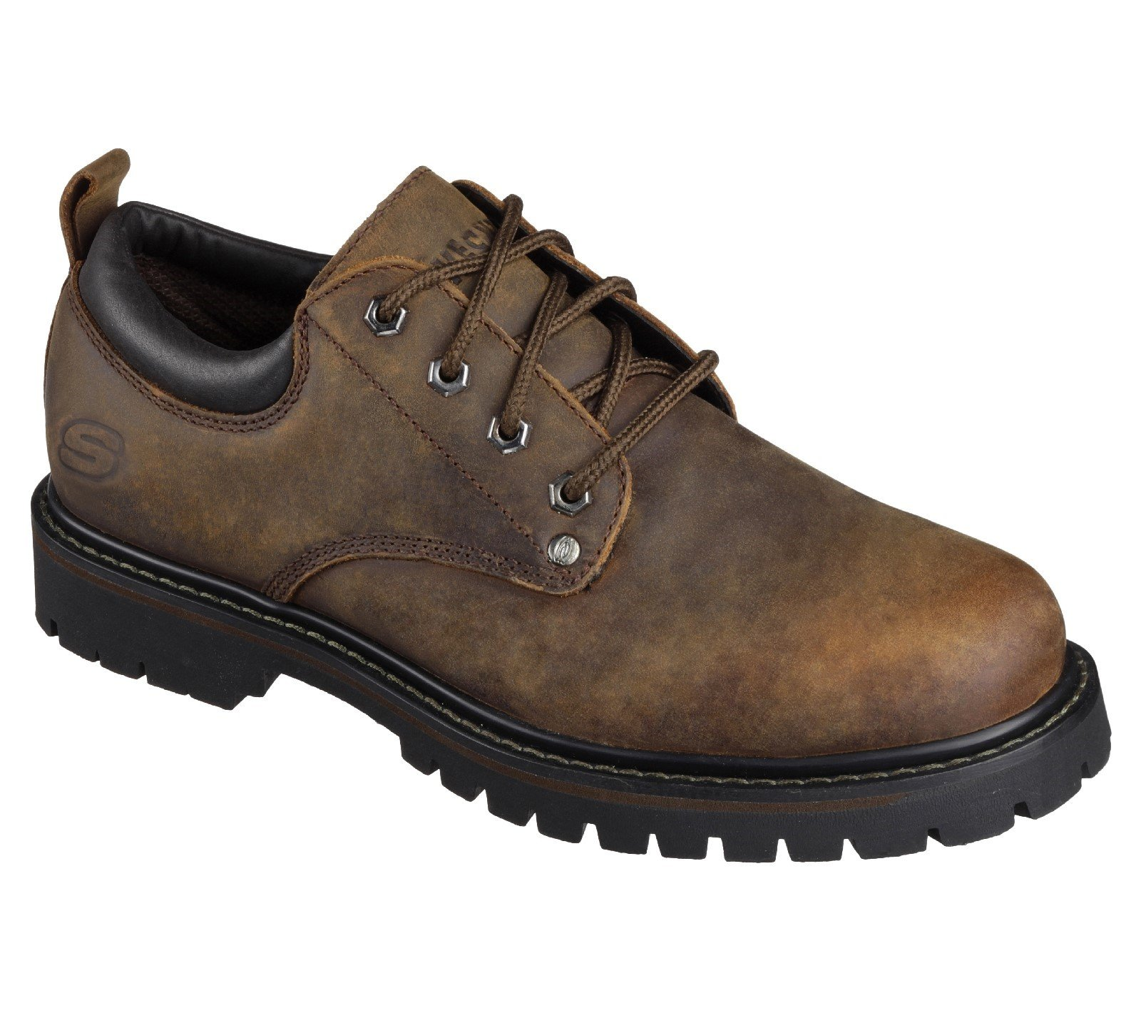 Skechers Unisex Tom Cats Lace Up Shoe Various Colours 24580 - Dark Brown 6