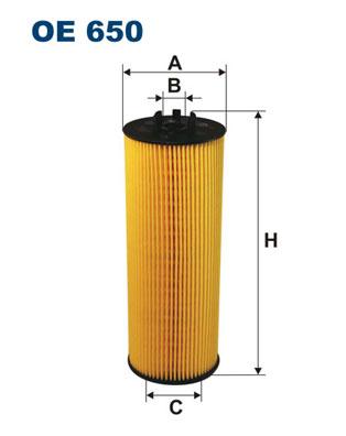 Öljynsuodatin FILTRON OE 650