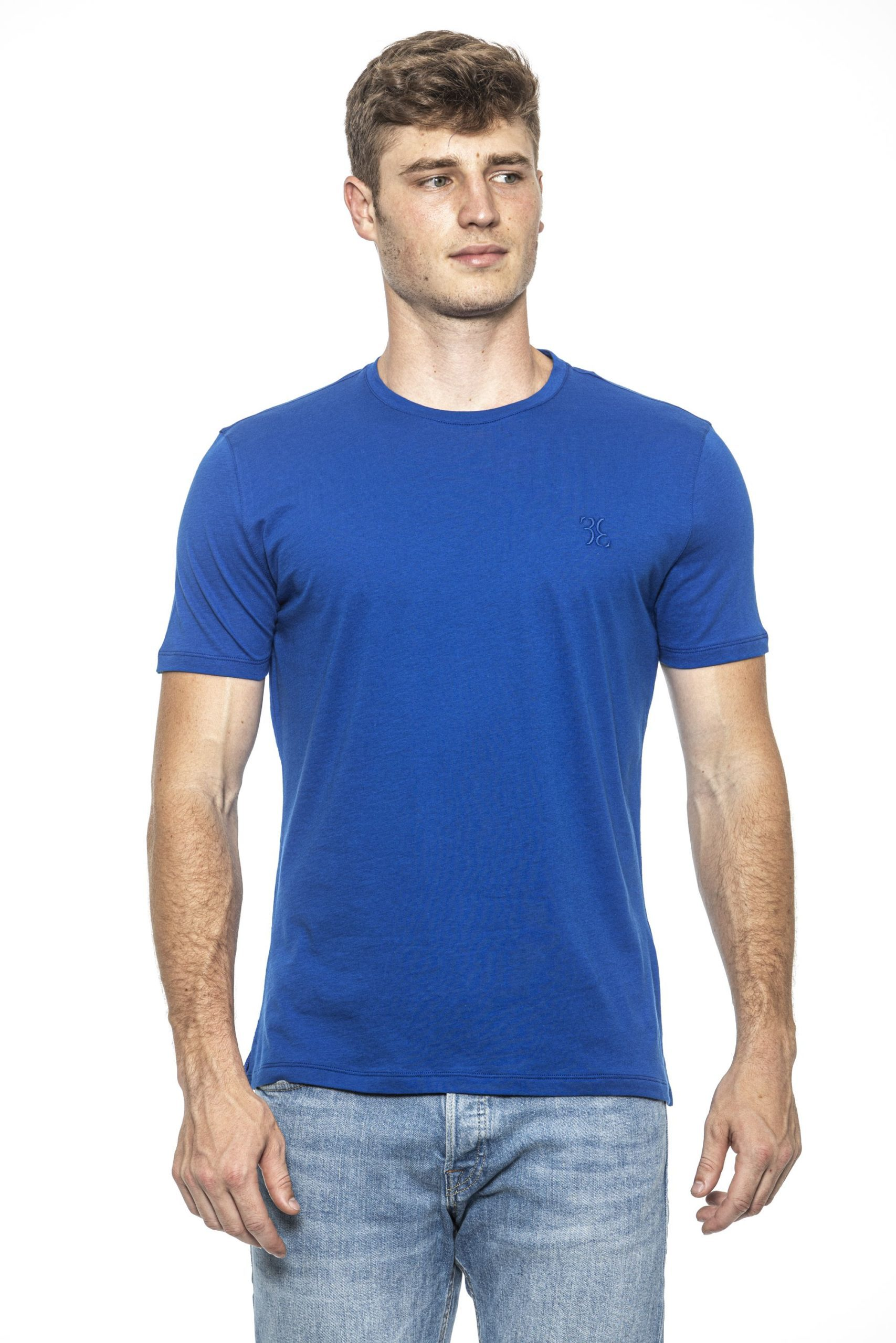 Billionaire Italian Couture Men's Bluette T-Shirt Light Blue BI1397966 - M