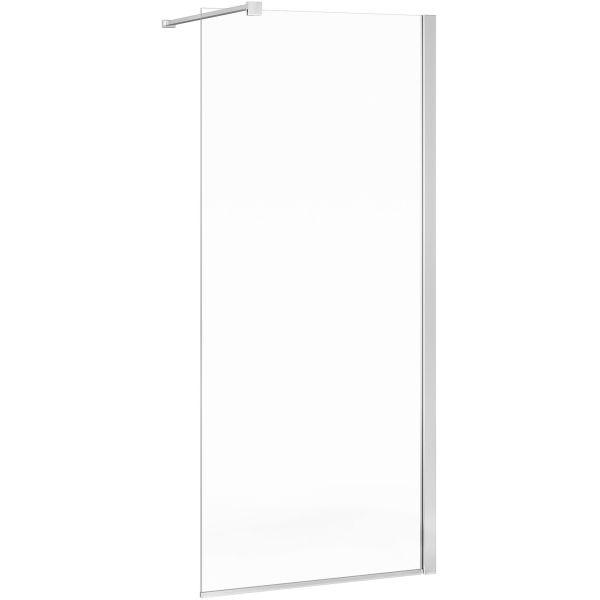 Gustavsberg Square Suihkuseinä kirkas lasi, kiillotetut profiilit 100 cm