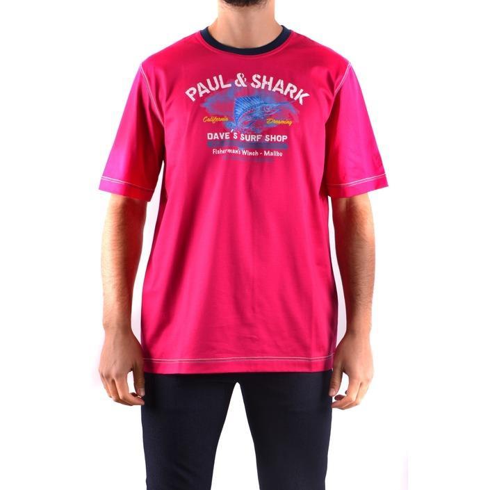 Paul&shark Men's T-Shirt Liliac 161625 - liliac L