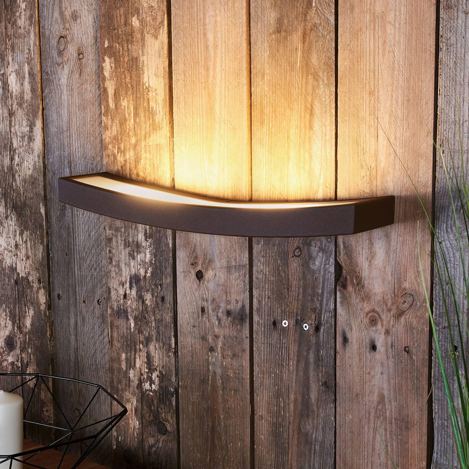 LED-seinälamppu Dolce, ruoste, leveys 50 cm
