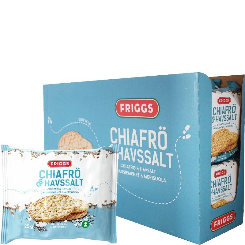 Majskakor Chiafrön & Havssalt 22-pack - 50% rabatt