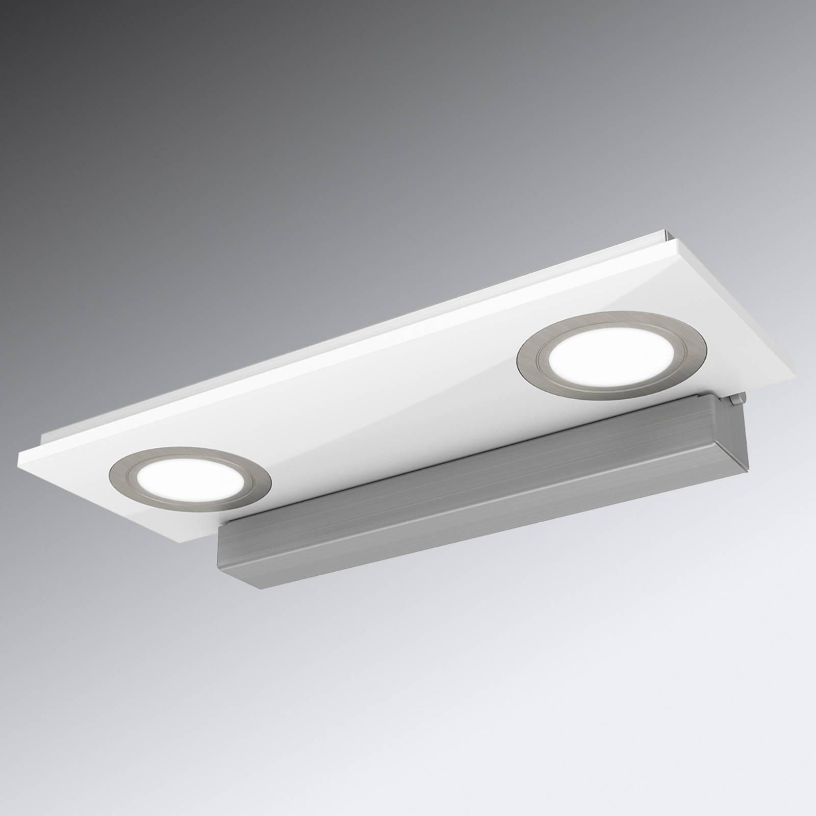 2-osainen Pano-LED-seinävalaisin, valkoinen