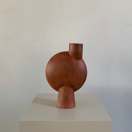 Sphere Bubl Vase Midi Terrakotta