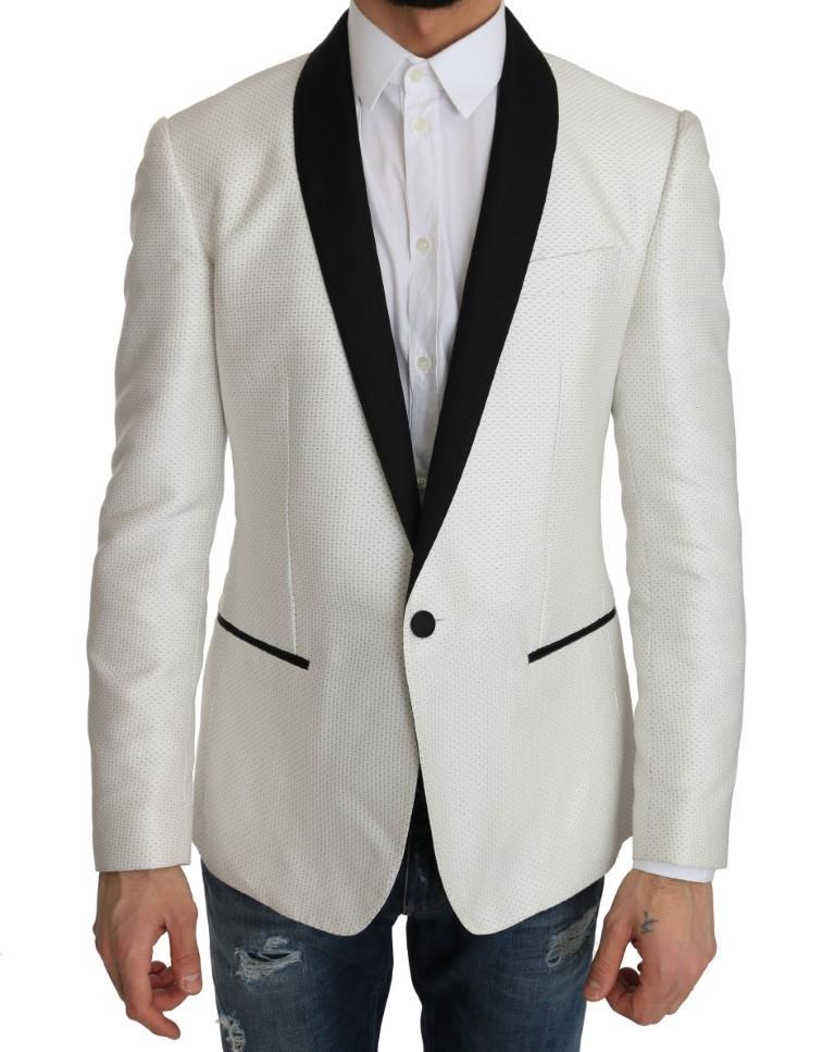 Dolce & Gabbana Men's Jacquard MARTINI Blazer White JKT2202 - IT54 | XXL
