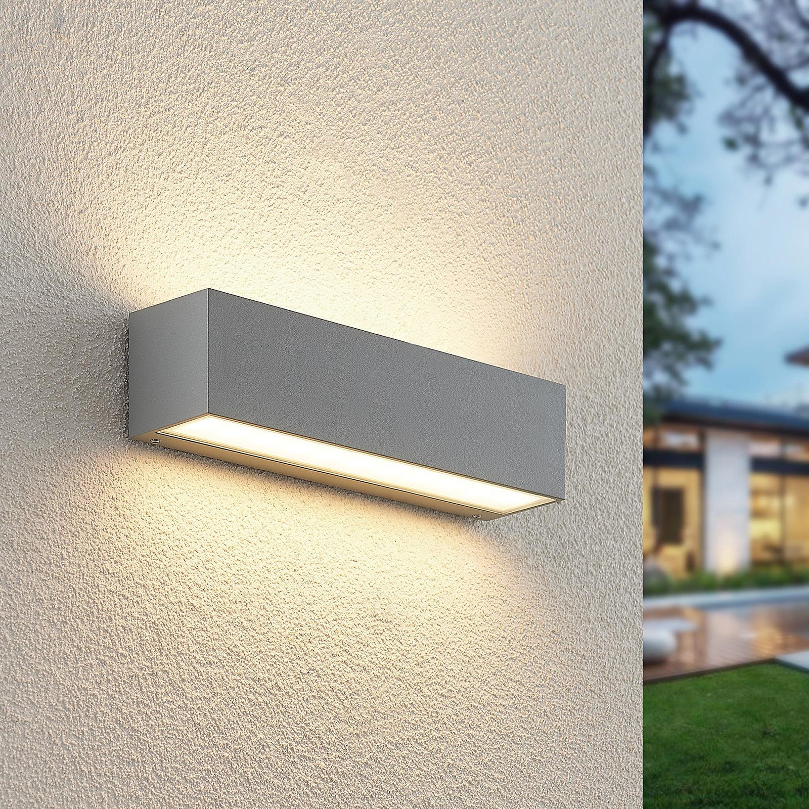 Lucande Lengo LED-vegglampe, up down, 25cm