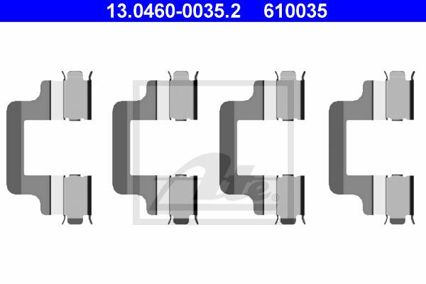 Tarvikesarja, jarrupala ATE 13.0460-0035.2