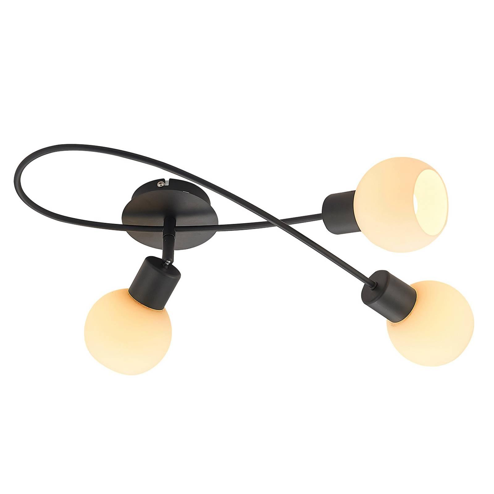 Lindby LED -kattovalaisin Elaina, 3-lamp. musta