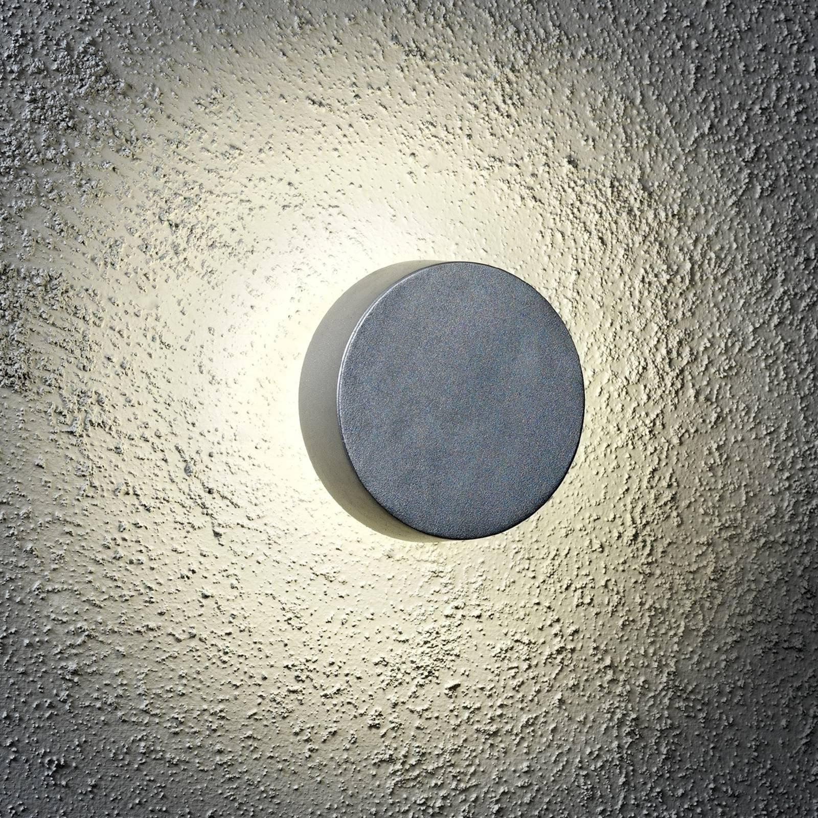 Rund utendørs New Pesaro LED-vegglampe