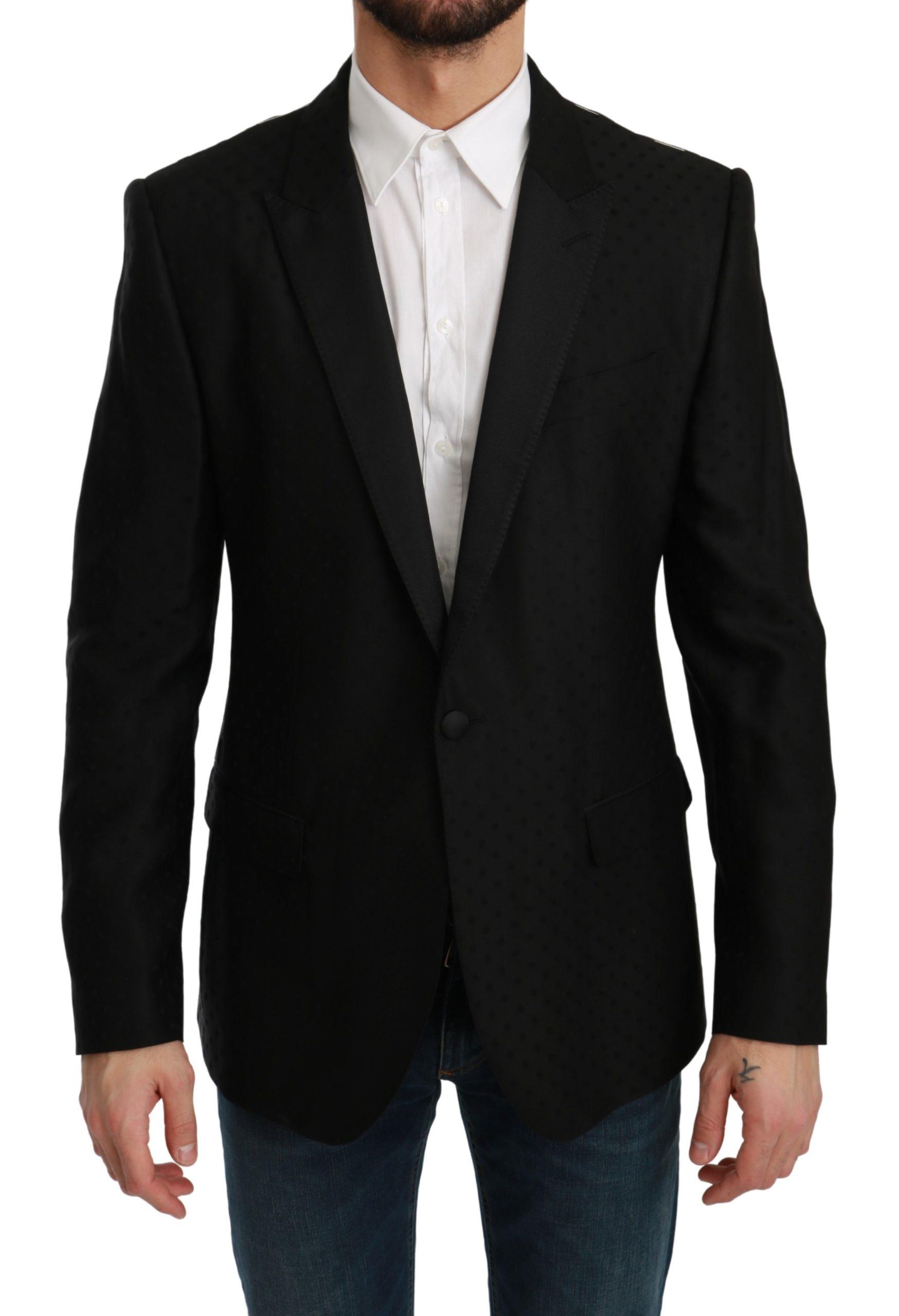 Dolce & Gabbana Men's Slim Fit MARTINI Blazer Black KOS1764 - IT44 | XS