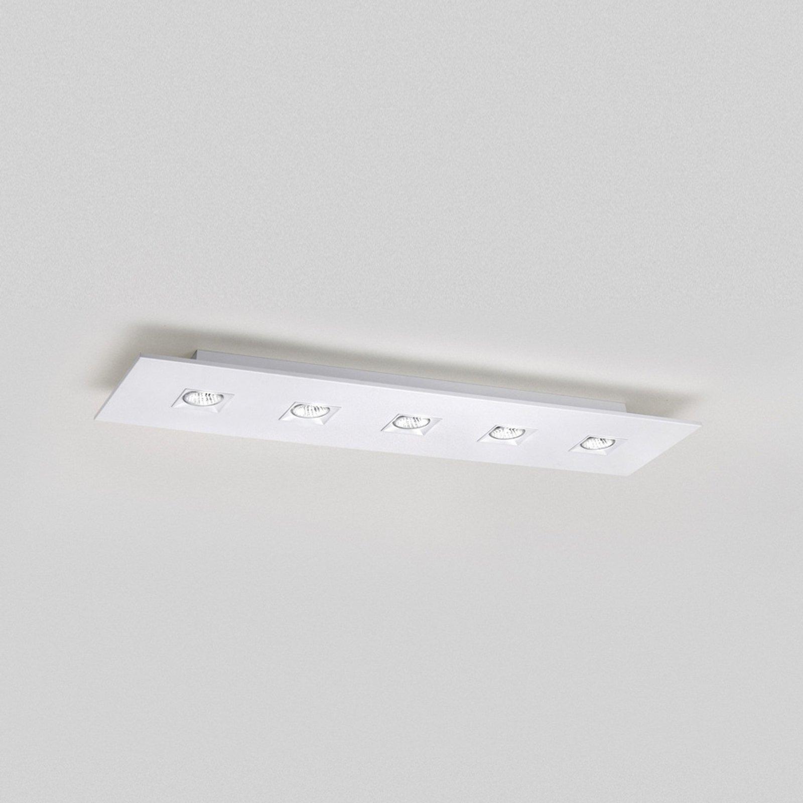 Taklampe Polifemo hvit 5 lys