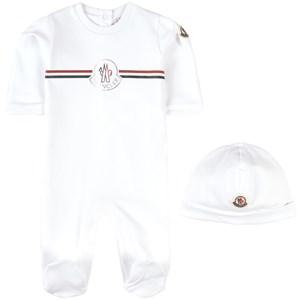 Moncler 2-delat Branded Baby Set Vitt 18-24 mån