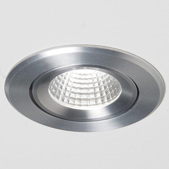 LED-uppospotti Agon Round 3 000 K, 40°, alumiini