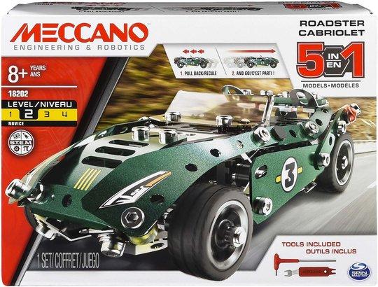 Meccano Byggesett 5-i-1 Pull Back Car