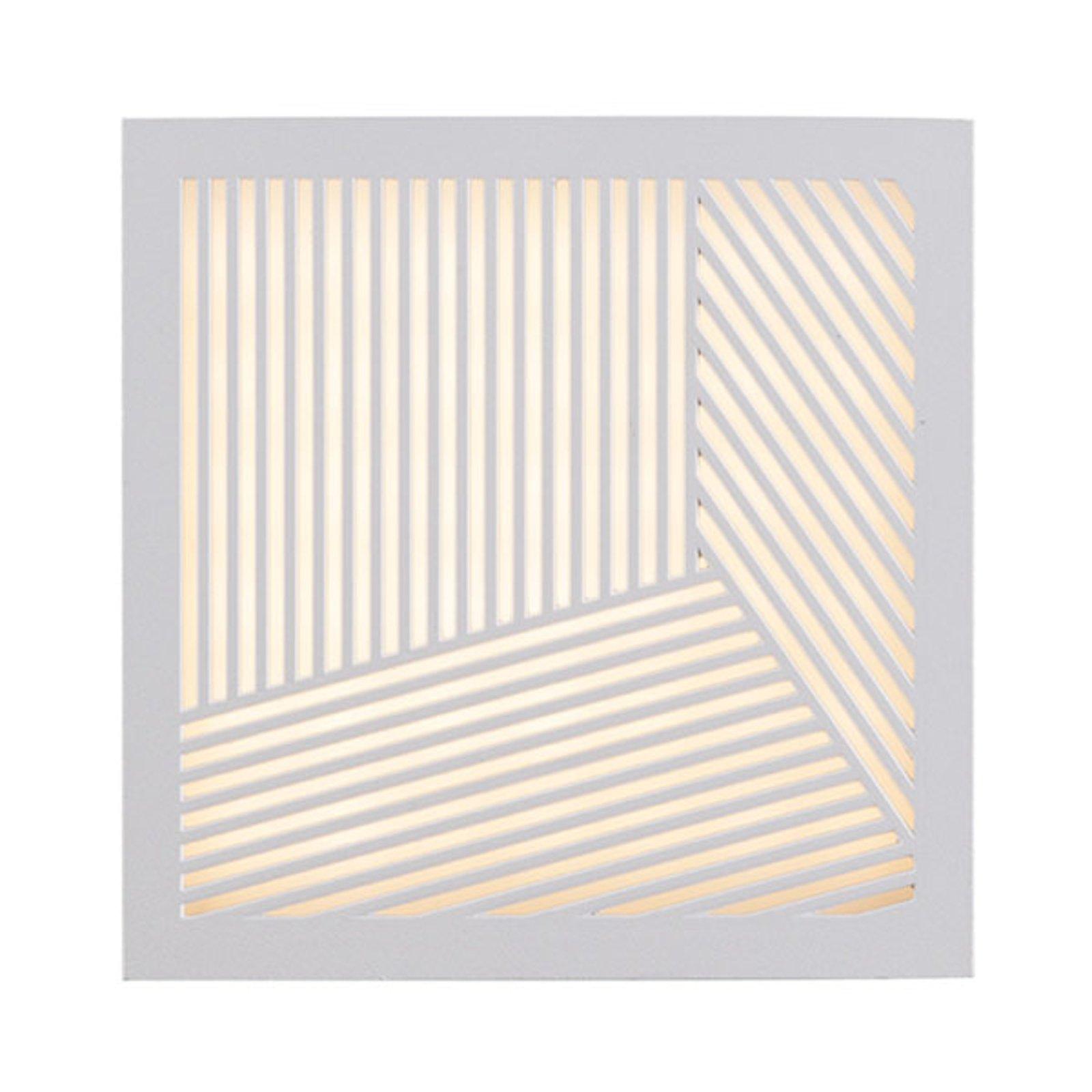 Utendørs LED-vegglampe Maze Straight i hvit