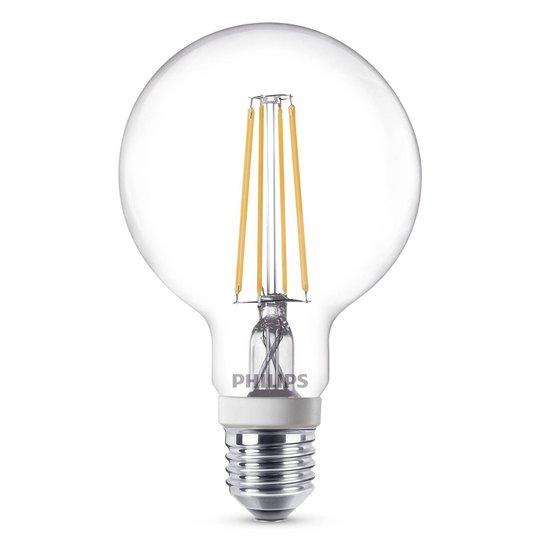 Philips E27 7W LED-globepære G95 klar dimbar 927
