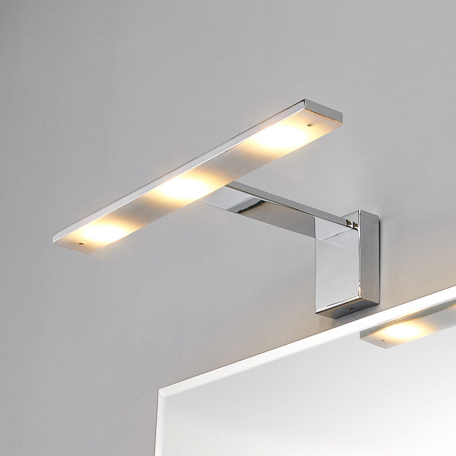 Chic LED-speillampe Lorik, krom