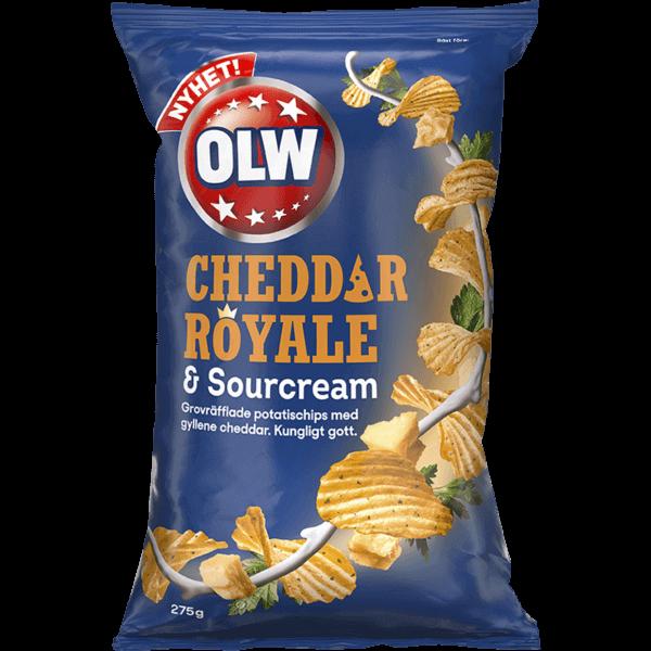 OLW Cheddar Royale & Sour Cream Chips 175g