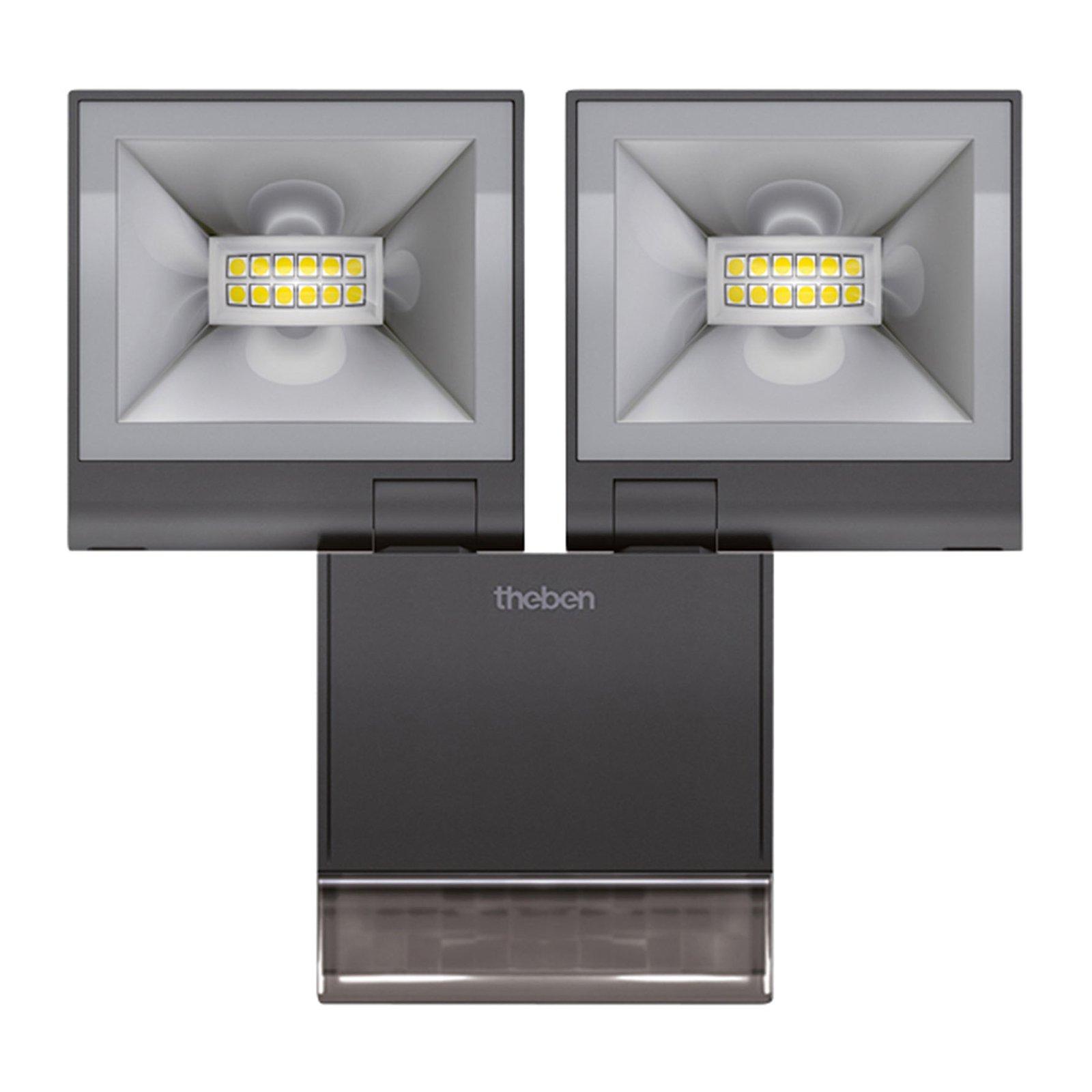 Theben theLeda S20 2 lys sensor 3 000 K svart