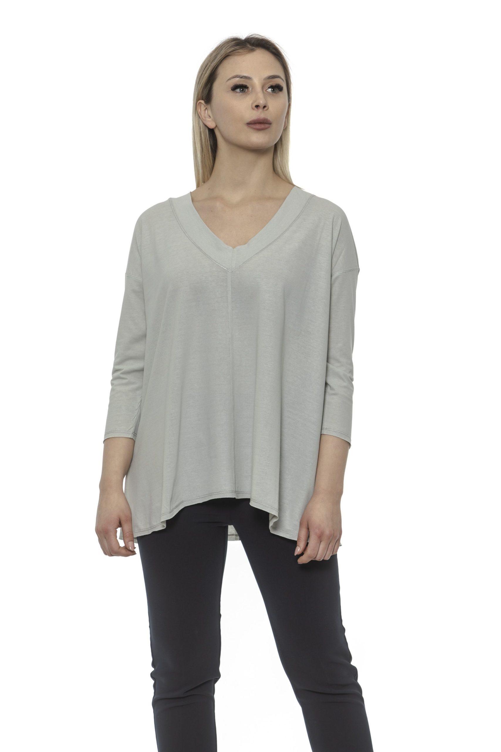 Alpha Studio Women's Perla Sweater Gray AL1375057 - IT40   XS