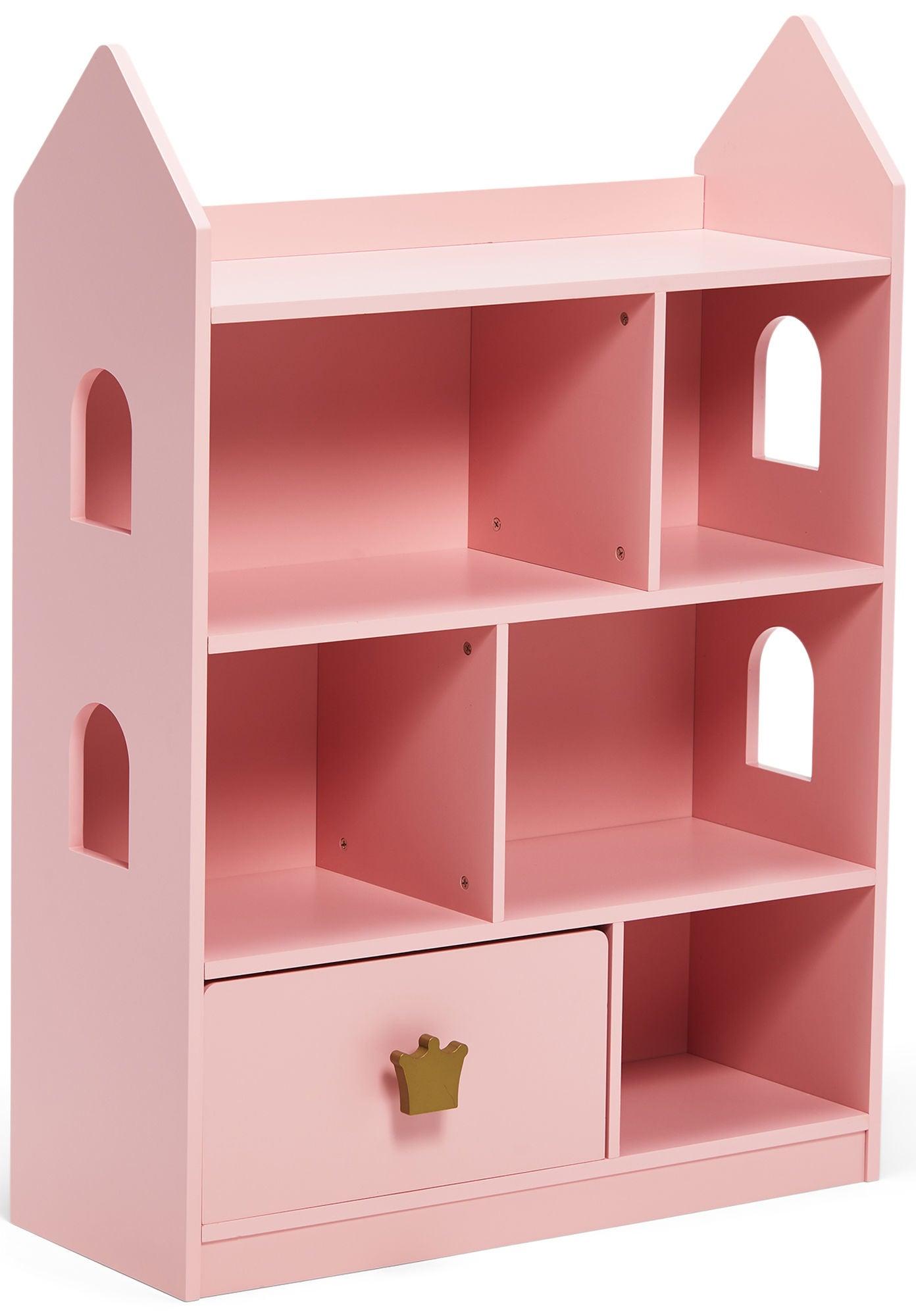 Alice & Fox Ikkunallinen Kirjahylly Princess, Vaaleanpunainen