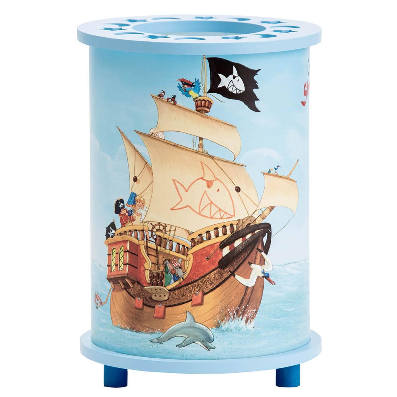 Bordlampe til barnerom med Capt'n Sharky-motiv