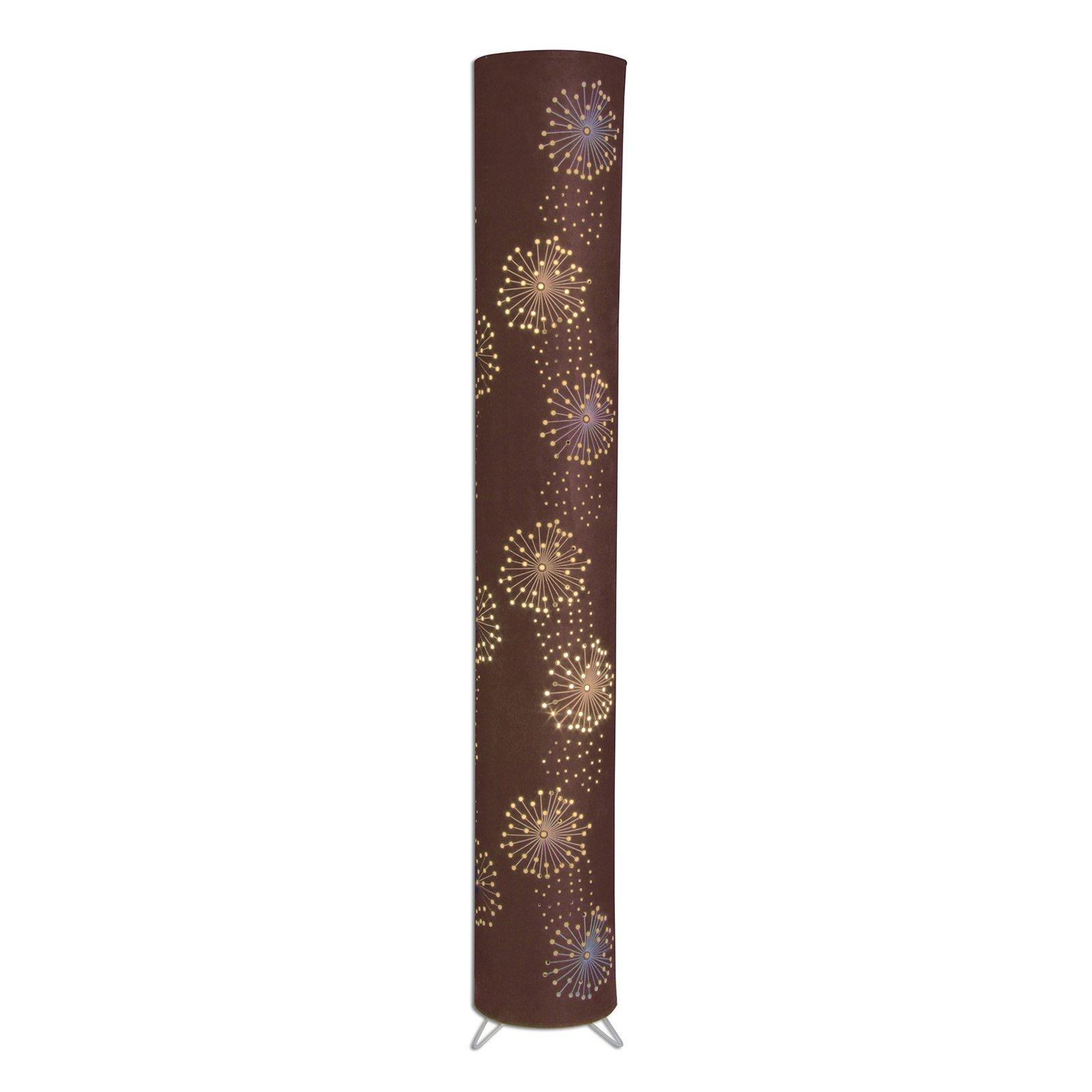 Aurona gulvlampe av stoff med perforert mønster
