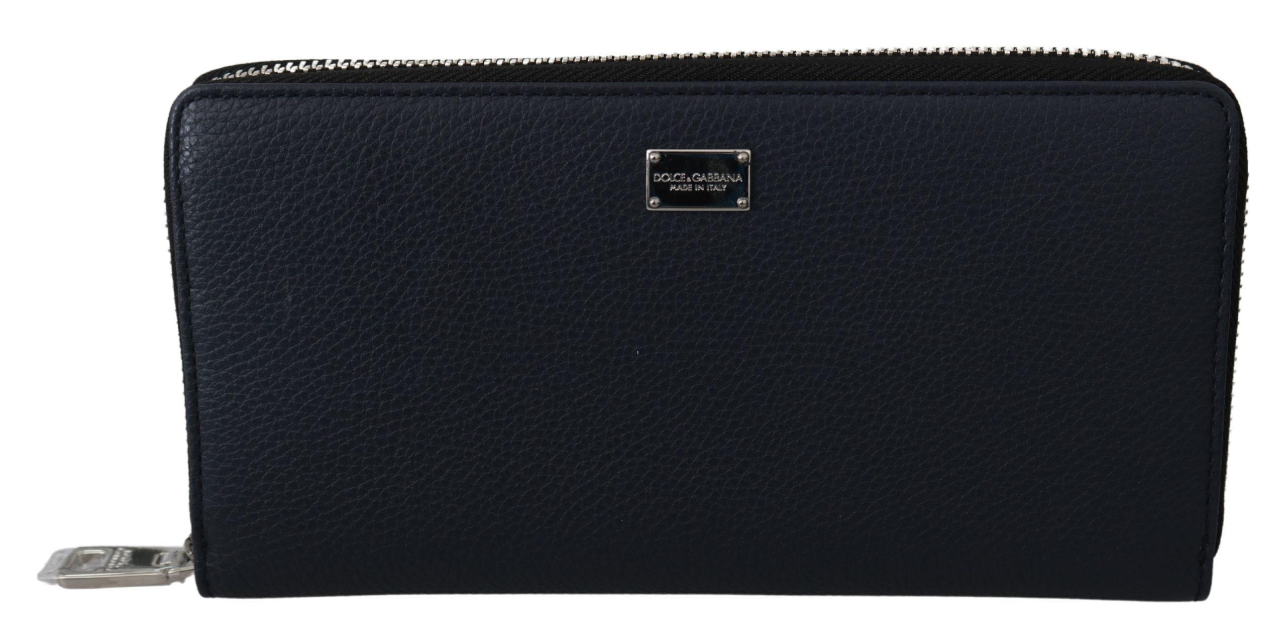 Dolce & Gabbana Men's Dauphine Leather Continental Wallet Blue VAS9704
