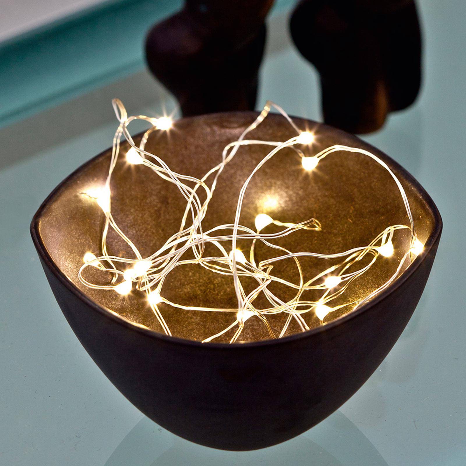 LED-valoketju Knirke, 20-lamppuinen