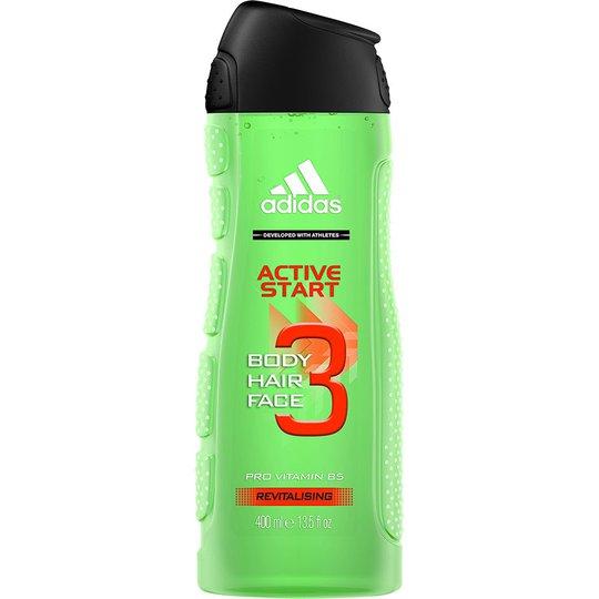 3 in 1 Active Start Shower Gel, 400 ml Adidas Kylpy & Suihku