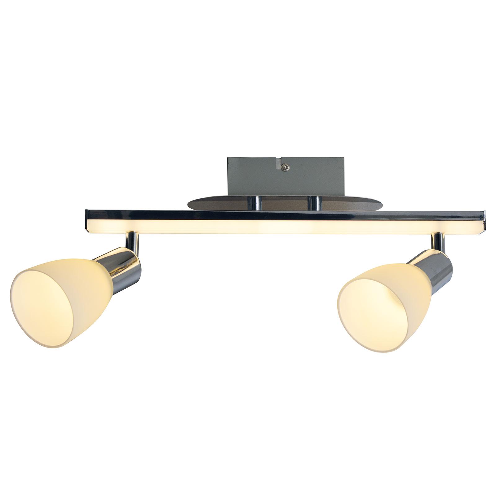 LED-kattovalaisin Ibiza 2-lamppuinen, pituus 39 cm