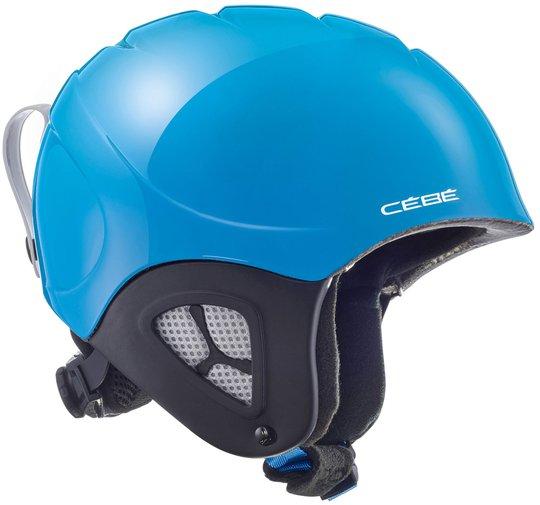 Cébé Pluma Basics JR Skihjelm, Shiny Neon Blue 48-51