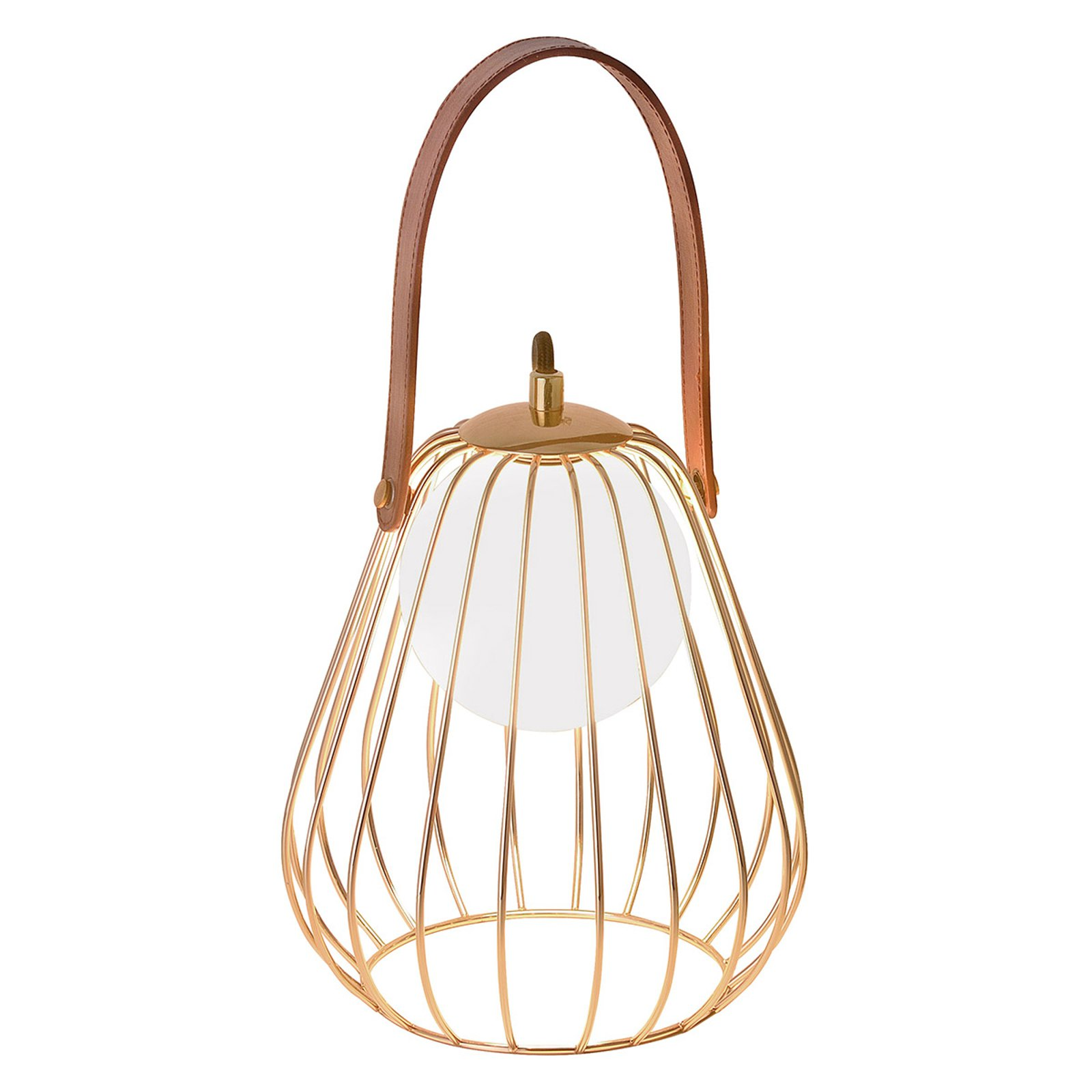 Levik bordlampe med gyllent bur