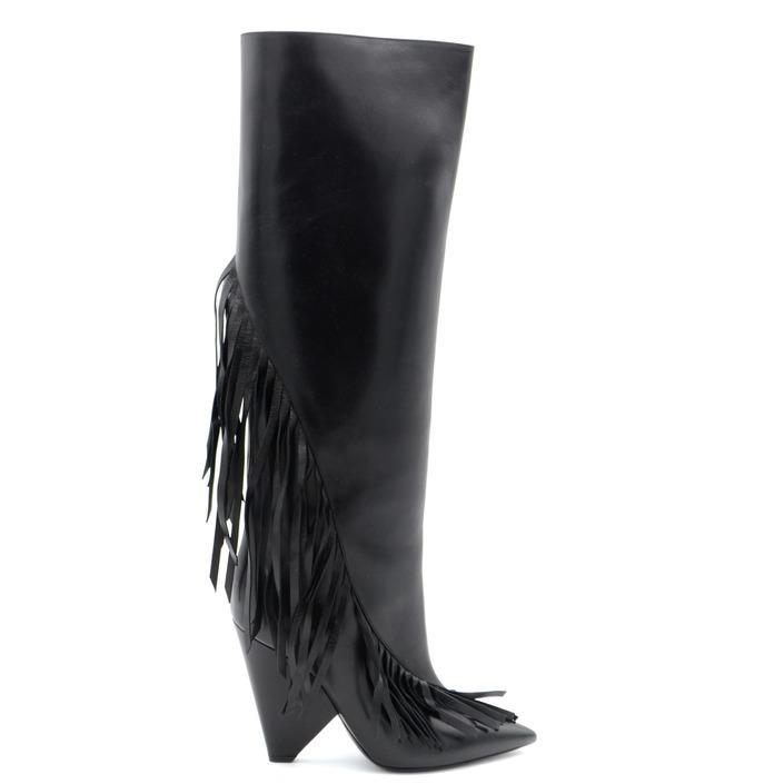 Saint Laurent Women's Boot Black 165538 - black 36