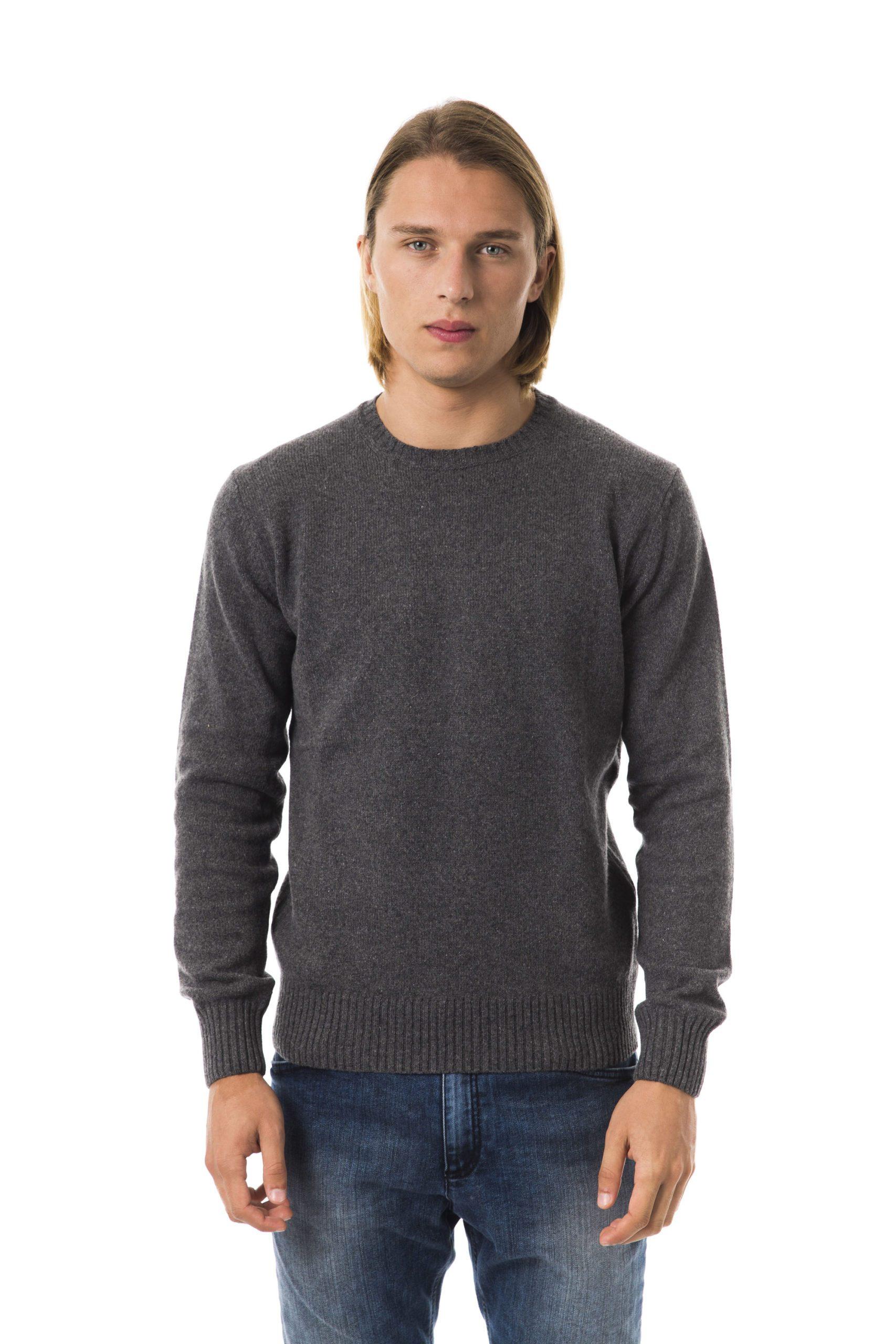Uominitaliani Men's G R I S C. Sweater Gray UO816436 - L