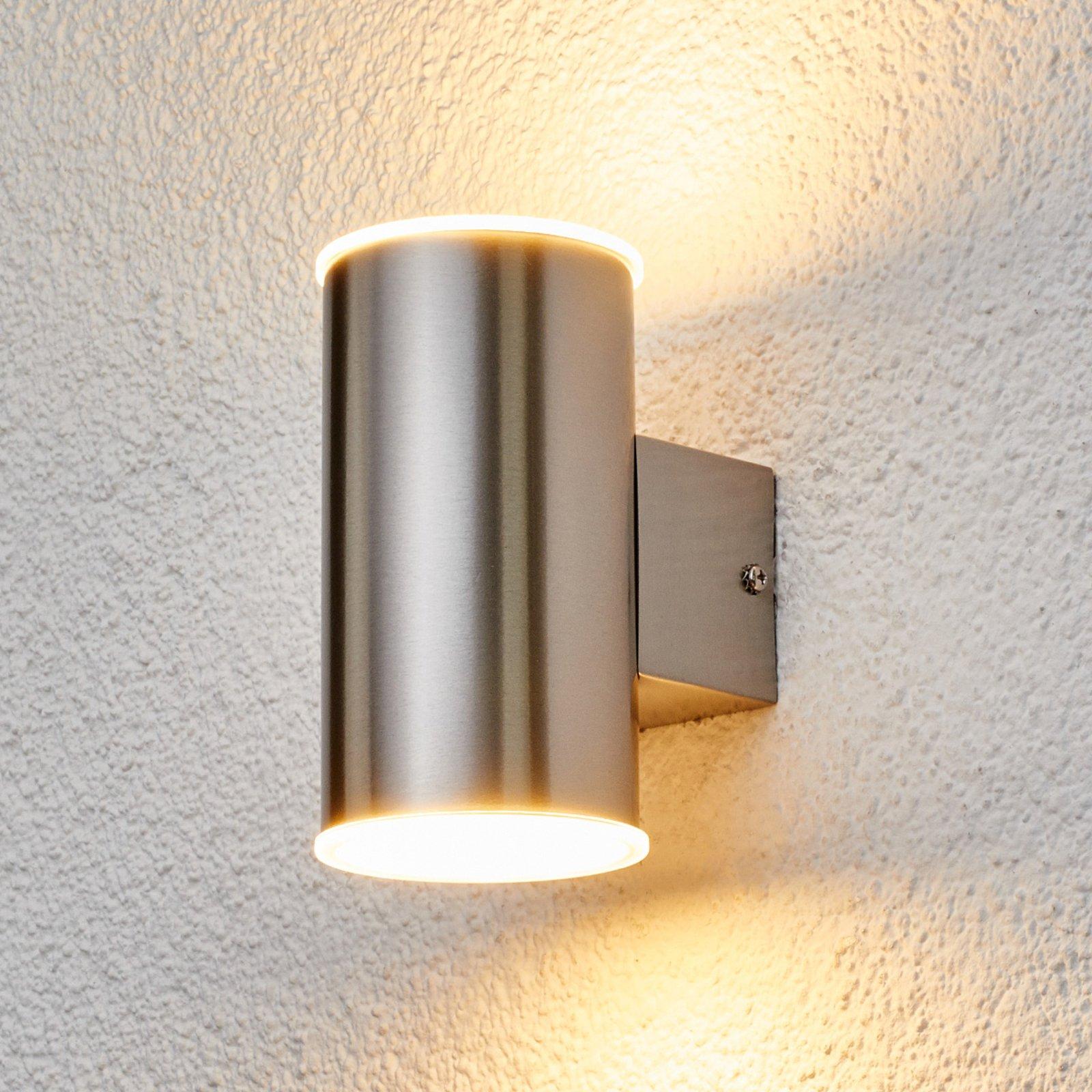 Morena - utendørs LED-vegglampe av rustfritt stål