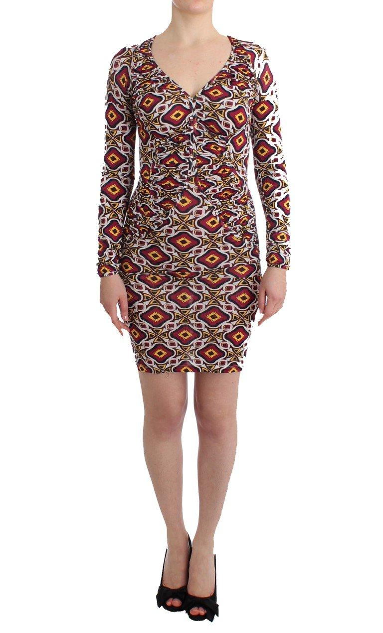 GF Ferre Women's Longsleeved Viscose Shift Dress Multicolor SIG11519 - IT40|S