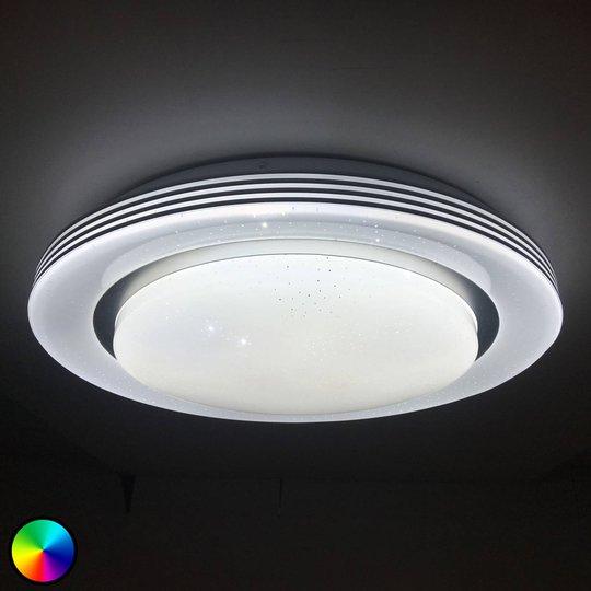 Lindby Mizuni -LED-kattovalaisin, RGBW, CCT, 38 cm