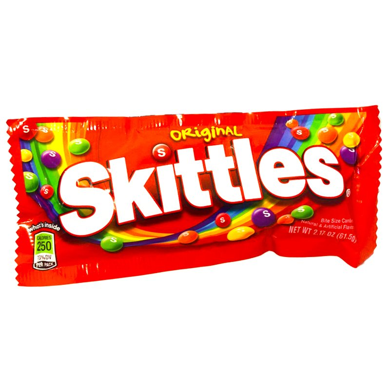 "Godis ""Skittles Original"" 61,5g - 70% rabatt"