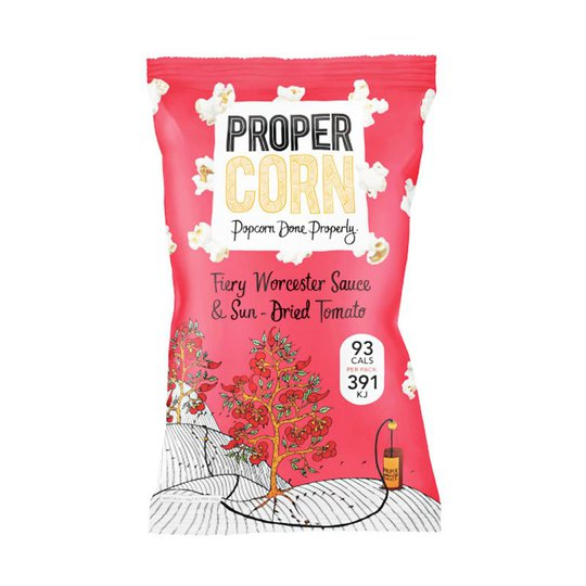 "Popcorn ""Fiery Worcester Sauce"" 20g - 93% rabatt"