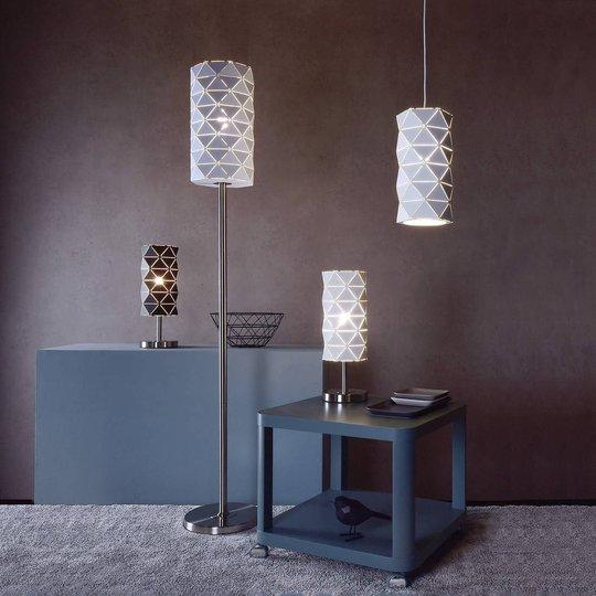 Asterope bordlampe, lineær svart