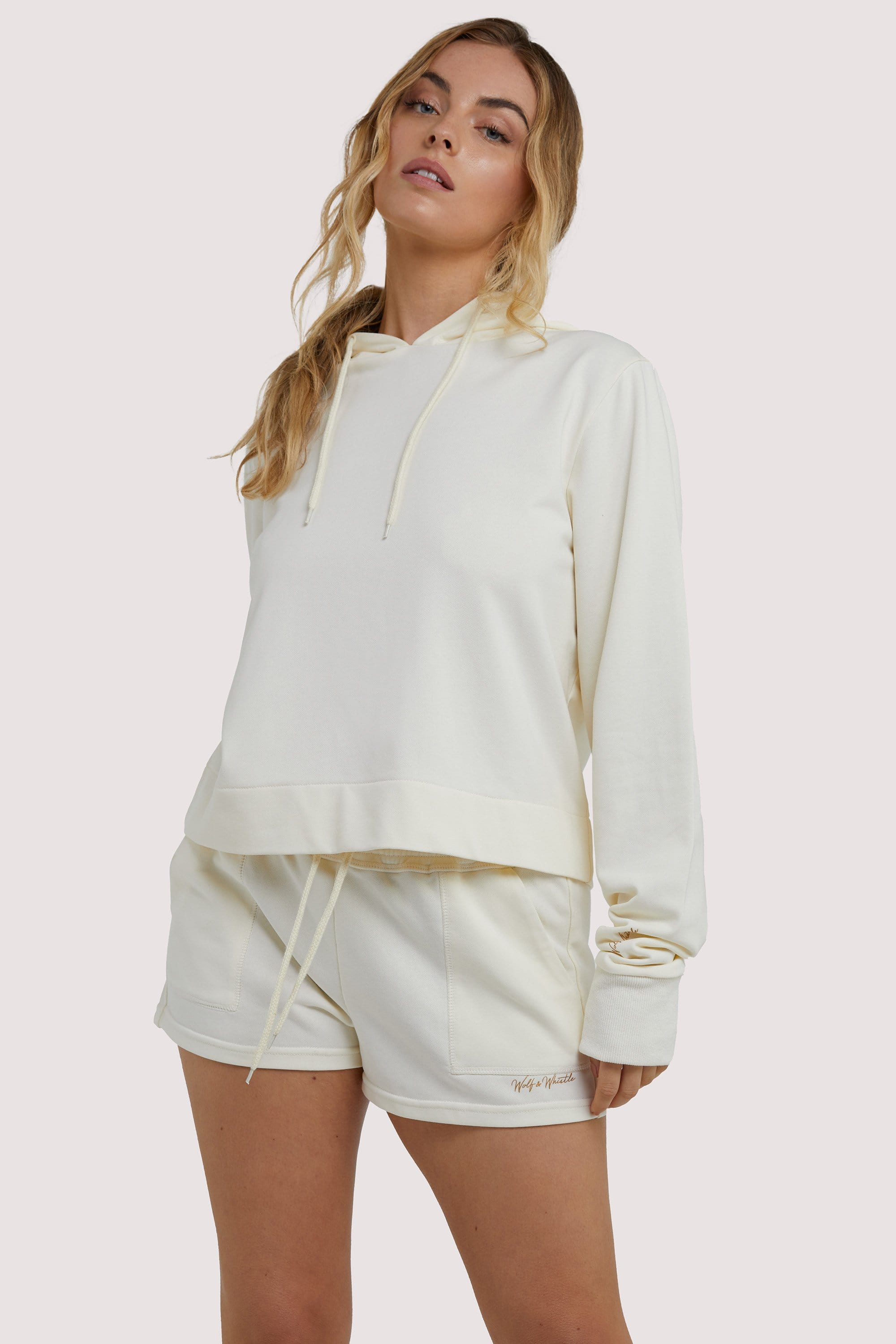 Wolf & Whistle Winter White Hooded Top UK 10 / US 6