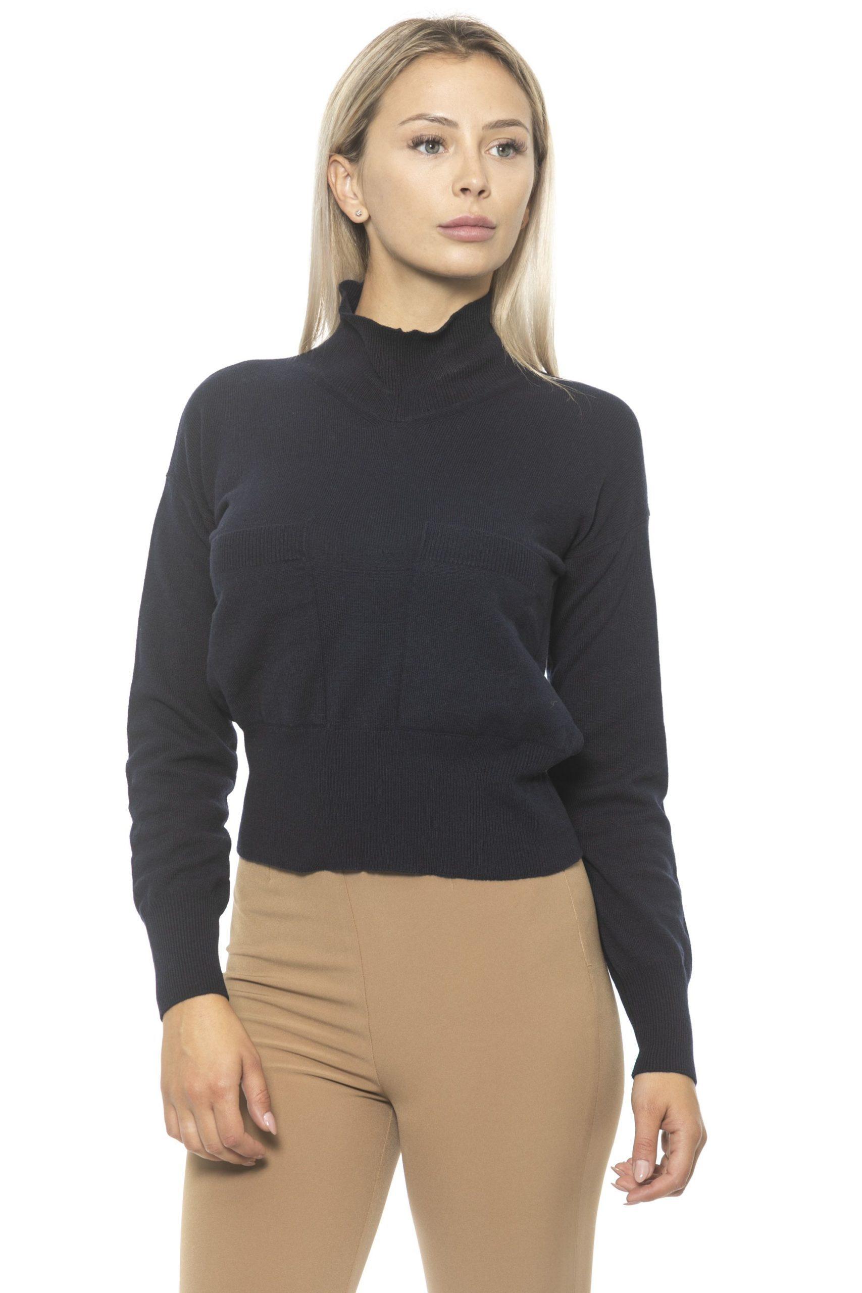 Alpha Studio Women's Navy Sweater Blue AL1314696 - IT44 | M