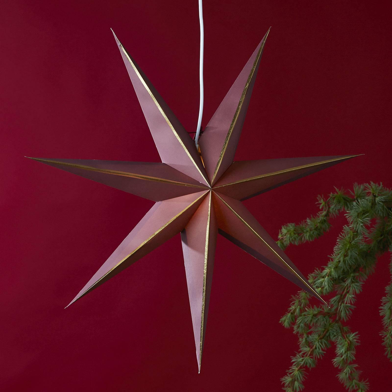 Stjerne Lysa av papir rød/gull